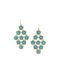 Fragments For Neiman Marcus Fragments Pav Crystal And Bead Earrings Turquoise