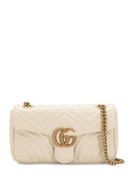 Gucci Small Gg Marmont 2.0 Leather Bag White