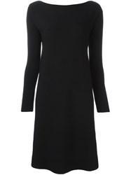 Roberto Collina Boat Neck Knit Dress Black