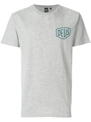 Deus Ex Machina Print T Shirt Grey