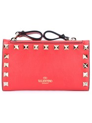 Valentino Garavani 'Rockstud' Coin Purse Red