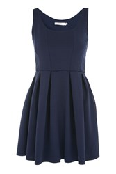 Oh My Love Textured Skater Dress By Navy Blue