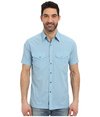 Kuhl Stealth Air Blue Men's Short Sleeve Button Up