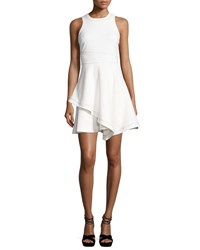 Cinq A Sept Lyla Sleeveless Handkerchief Hem Dress White Black White Black