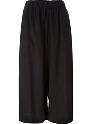 James Perse Cropped Palazzo Trousers Black