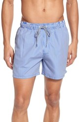 Ted Baker 'S London One Way Stripe Swim Trunks Blue