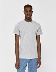 Norse Projects S S Niels Standard Tee In Light Grey Melange