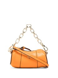 Manu Atelier Micro Cylinder Chain Trimmed Leather Bag 60