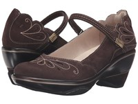 Jambu Bombay Dark Brown Peach Amber Women's Wedge Shoes