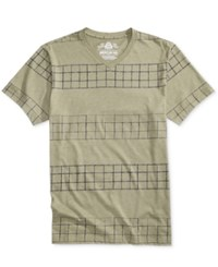 American Rag Men's Plaid Stripe T Shirt Only At Macy's Tarnished