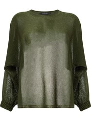 Roberto Collina Loose Fit Jumper Green