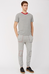 Band Of Outsiders Contrast Stich Terry Sweatpants Navy