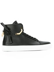 Buscemi Matte Hi Top Sneakers Black
