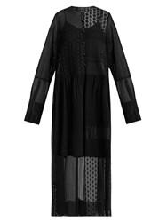Joseph Odette Patchwork Broderie Anglaise Dress Black