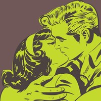 Marmont Hill Kiss 2 Wall Art Green
