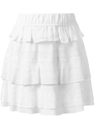 Iro Ruffled Layered Skirt White