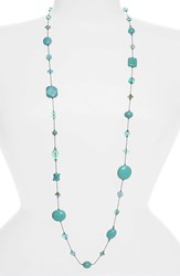 Women's Dabby Reid 'Annie' Crystal Mix Illusion Necklace Turquoise