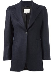 L'autre Chose One Button Blazer Blue