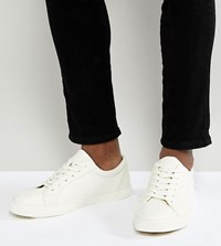 Asos Wide Fit Lace Up Trainers In White White
