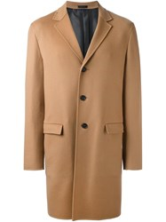 Jil Sander Single Breasted Coat Nude And Neutrals