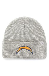 47 Brand Men's Nfl Brainfreeze Knit Beanie Grey Chargers