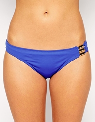 Huit Allure Low Waisted Brief Bikini Bottoms Blue