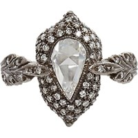 Cathy Waterman White Diamond Leaf Ring