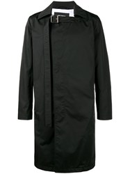 Raf Simons Double Breasted Trench Coat Black
