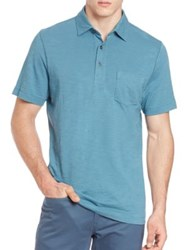 Saks Fifth Avenue Pima Cotton Slub Polo Shirt