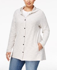 Styleandco. Style Co. Plus Size Striped Hooded Sweater Only At Macy's Summer Straw