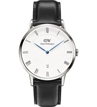 Daniel Wellington 1121Dw Dapper Sheffiled Silver And Leather Watch White