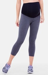 Women's Ingrid And Isabel Maternity Capri Pants Dark Heather Grey