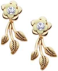 Lonna And Lilly Gold Tone Flower Stud Vine Earring Jackets