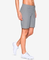 Under Armour Links Storm Water Repellent Golf Shorts Overcast Gray