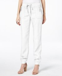 Inc International Concepts Drawstring Linen Pants Only At Macy's Bright White