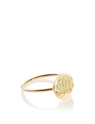 Sarah Chloe Gold Plated Initial Rocha Ring
