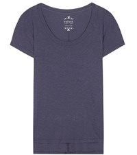 Velvet Rowen Cotton Blend T Shirt Blue