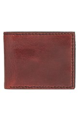 Men's John Varvatos Star Usa 'Brooklyn' Suede Bifold Wallet