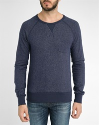 Hartford Indigo Super Light Pocket Sweatshirt