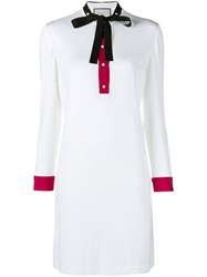 Gucci Long Sleeve Shift Dress White