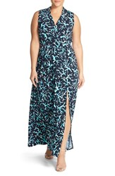 Plus Size Women's Michael Michael Kors 'Nadina' Print Side Slit Maxi Dress