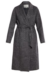 Selected Femme Sfoby Classic Coat Dark Grey Melange Mottled Dark Grey