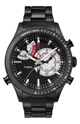 Men's Timex 'Intelligent Quartz' Bracelet Watch 46Mm Black