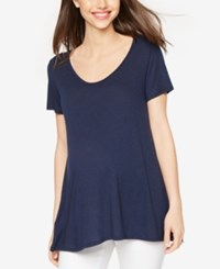 A Pea In The Pod Maternity High Low Tee Midnight