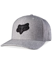 Fox Men's Supposed To Embroidered Logo Flexfit Hat Heather Gray