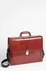 Bosca Double Gusset Briefcase Brown