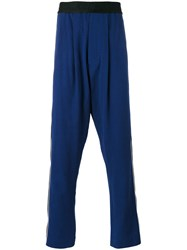 Haider Ackermann Dropped Crotch Tapered Track Pants Blue
