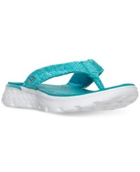 Skechers Women's On The Go Vivacity Flip Flop Thong Sandals From Finish Line Teal