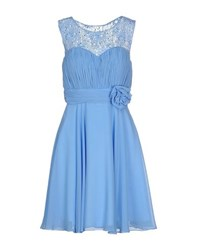 Musani Couture Dresses Short Dresses Women Sky Blue