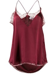 Iro Lace Trimmed Camisole Red